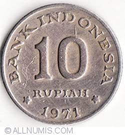 Image #1 of 10 Rupiah 1971