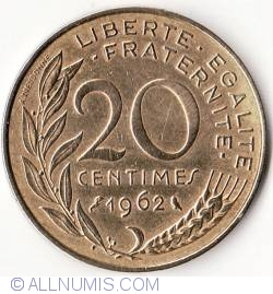 Image #1 of 20 Centimes 1962