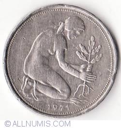 Imaginea #2 a 50 Pfennig 1971 J