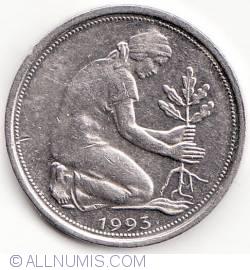 Imaginea #2 a 50 Pfennig 1993 F