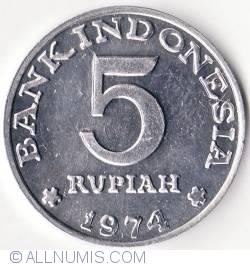 Image #1 of 5 Rupiah 1974
