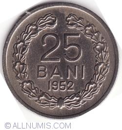 Imaginea #1 a 25 Bani 1952