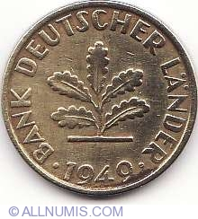 Image #2 of 5 Pfennig 1949 G