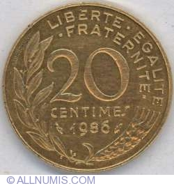 Image #1 of 20 Centimes 1986