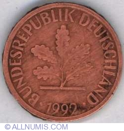 Image #2 of 1 Pfennig 1992 J