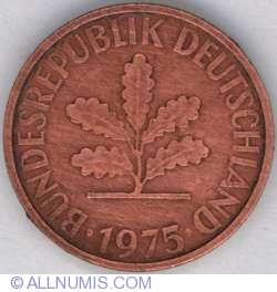 Image #2 of 2 Pfennig 1975 J