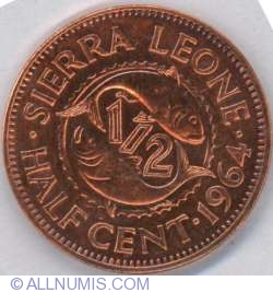 Image #1 of 1/2 Cent 1964