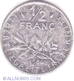 Image #1 of 1/2 Franc 1986