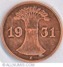Image #2 of 1 Reichspfennig 1931 E