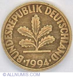 Image #2 of 10 Pfennig 1994 J