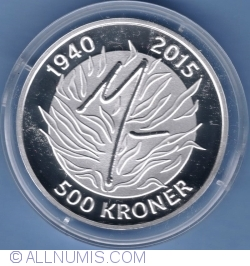 Image #2 of 500 Kroner 2015 - The Queens 75th birthday (16th April 2015)