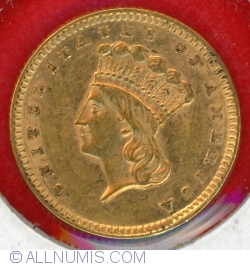 Image #1 of Indian Princes Head (large) 1857 no mint mark (P)
