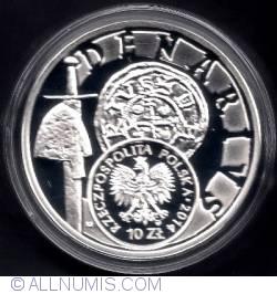 Imaginea #1 a 10 złotych 2014 - Denarius of King Boleslaw III