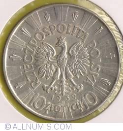 Imaginea #1 a 10 Zlotych 1939 - Jozef Pilsudski