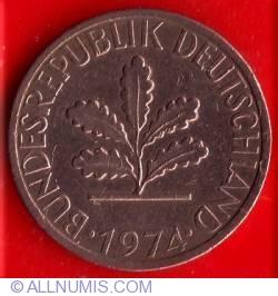 Image #2 of 1 Pfennig 1974 J