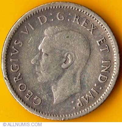 10 Cents 1944, George VI (1937-1952) - Canada - Coin - 17183