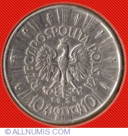 Imaginea #1 a 10 Zlotych 1938 - Jozef Pilsudski