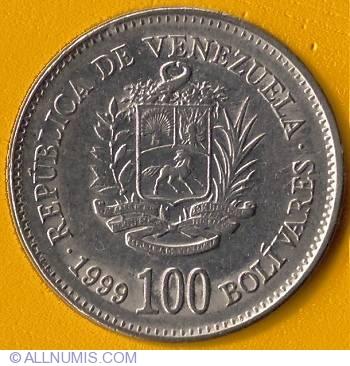 100 Bolivares 1999 Republic 1991 2000