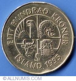 Image #1 of 100 Kronur 1995