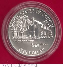 1 Dollar 1990 W - Eisenhower Centennial