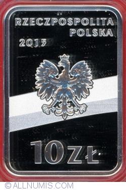 Imaginea #1 a 10 Złotych 2015 - Józef Piłsudski (100 anniversary of Regaining Independence bz Poland)