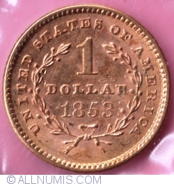 1 Dollar 1853 (Liberty Head - Type 1)