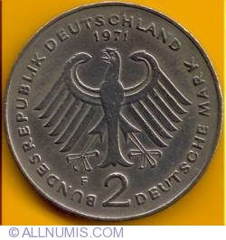Image #1 of 2 Mark 1971 F - Theodor Heuss