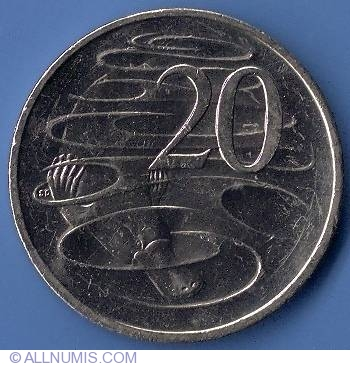 AUSTRALIA 1999 20 CENTS PROOF PLATYPUS!