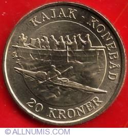 20 Kroner 2010 - Kajak