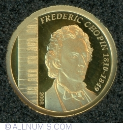 Image #2 of 1000 Tugrik 2008 - Frédéric Francois Chopin (Fryderyk Franciszek Chopin)