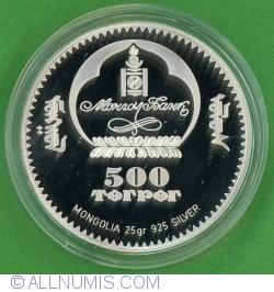 Image #2 of 500 Tugrik 2008 - Frédéric Francois Chopin (Fryderyl Franciszek Szopen)