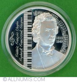 Image #1 of 500 Tugrik 2008 - Frédéric Francois Chopin (Fryderyl Franciszek Szopen)