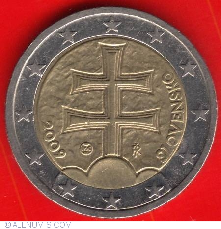 2 euro 2009 euro 2009 2 euro slovakia coin 4908. Black Bedroom Furniture Sets. Home Design Ideas