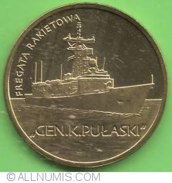 """Image #2 of 2 złote 2013 - Missile frigate """"GEN. K. PUŁASKI"""""""