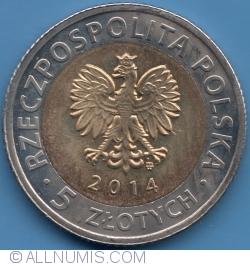 Imaginea #1 a 5 Złotych 2014 - 25 Years of Freedom  2014