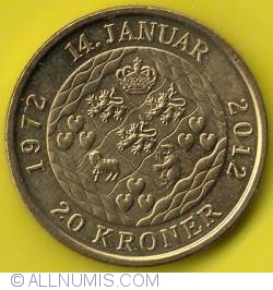 Image #2 of 20 Kroner 2012 - 40 Years Anniversary Of Regency