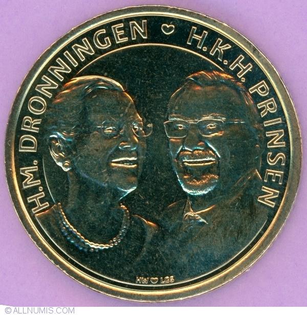 "Denmark 20 kroner 2017 /""Royal Golden Wedding/"" UNC"
