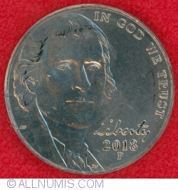 Jefferson Nickel 2018 P