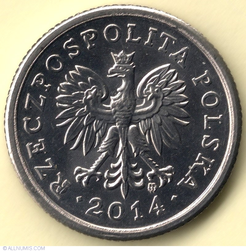 2014 POLAND REPUBLIC FULL 5 COIN SET 1,2,5,10,20 GROSZY UNC UNCIRCULATE