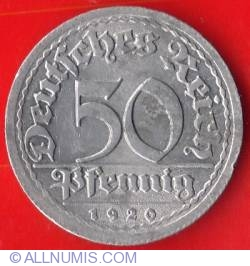Image #1 of 50 Pfennig 1920 J