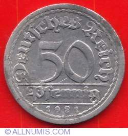 50 Pfennig 1921 G