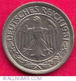 Image #2 of 50 Pfennig 1931 A