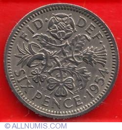 Image #1 of 6 Pence 1954