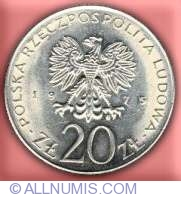 COIN OF POLAND 20 ZLOTY 1975 INTERNATIONAL WOMEN/'S YEAR PEOPLES REPUBLIC