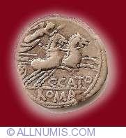 Image #2 of Cn Porcius Cato Denarius 123 B.C.