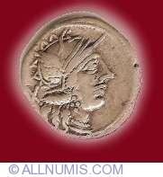 Image #1 of Cn Porcius Cato Denarius 123 B.C.