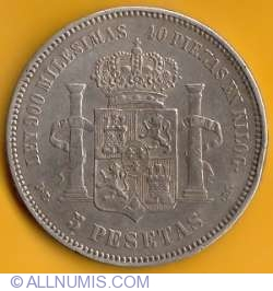 Image #2 of 5 Pesetas 1875