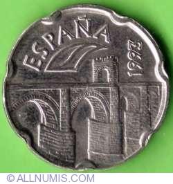 Image #1 of 50 Pesetas 1993 - Roman Bridge in Alcantara
