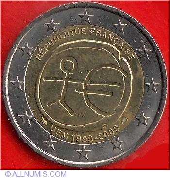 2 euro 2009 euro 1999 2009 france coin 9171. Black Bedroom Furniture Sets. Home Design Ideas