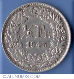 Image #2 of ½ Franc 1945